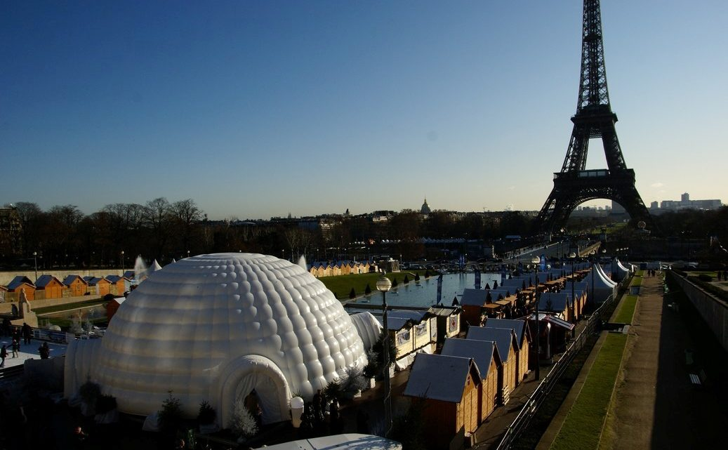 Utiliser un igloo gonflable comme support marketing