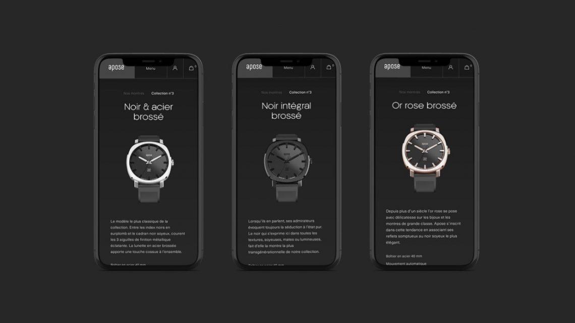 La marque d'horlogerie Apose fait appel à l'agence web Mars Rouge